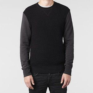 AllSaints Mather Crew sweater with elbow patches